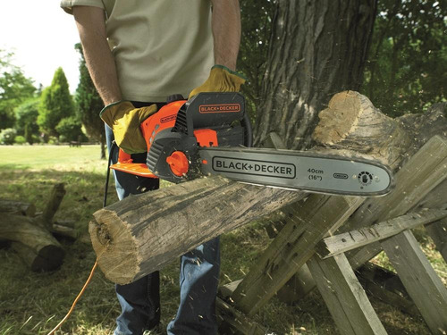 sierra podadora 1850w 40cm de corte black + decker