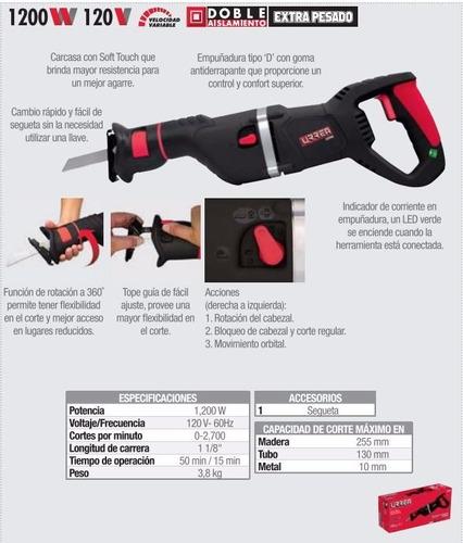 sierra sable 1200w - 120v uso extra pesado urrea ss950