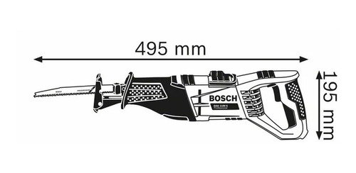 sierra sable professional 1100w 28mm gsa1100-e bosch - mm