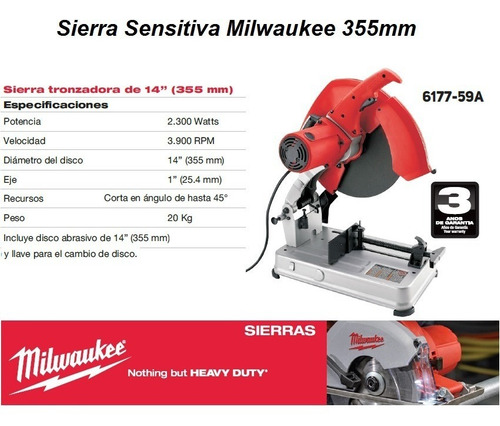 sierra sensitiva milwaukee 6177-59a profesional