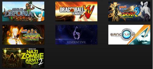 siete juegos pc dragon ball xenoverse resident evil 6 naruto