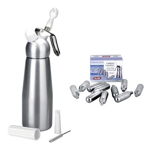 sifon para crema (1 litro) + caja de cargas marca ibili