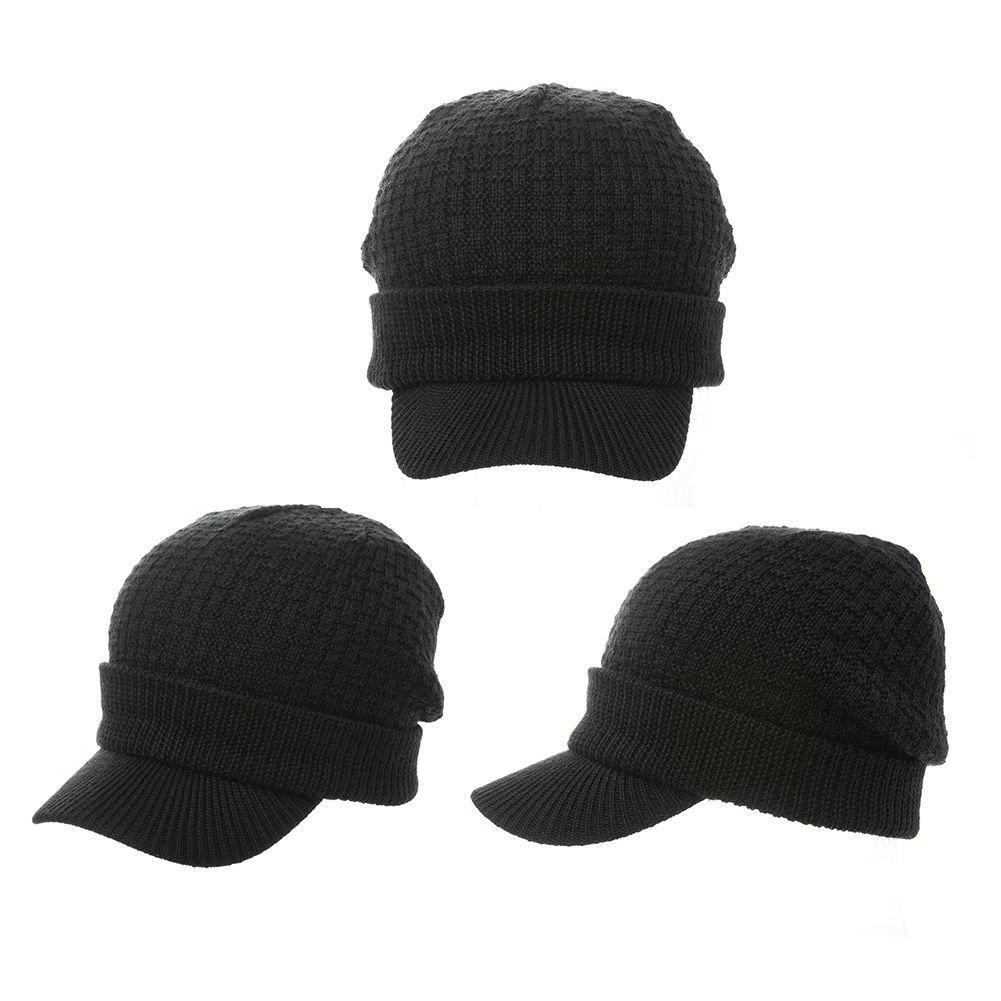 siggi hombre lana tejido cable cuff visor billed beanie j... Cargando zoom. 14cfcea3064