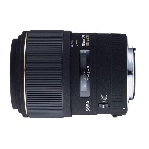 sigma 105 mm f:2.8 ex dg macro objetivo canon