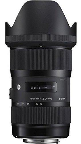 sigma 18-35mm f1.8 210.101 lente dc hsm para réflex digita