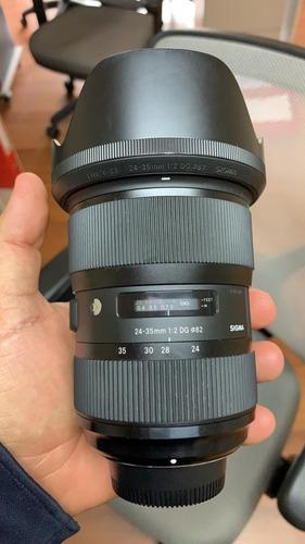sigma 24-35 mm f2 dg hsm art lente nikon f fx gran angular