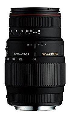 sigma 70-300 mm f / 4-5,6 dg apo teleobjetivo zoom macro pa