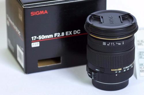sigma lente 17-50 f2.8 ex dc os hsm +parasol y bolso japones