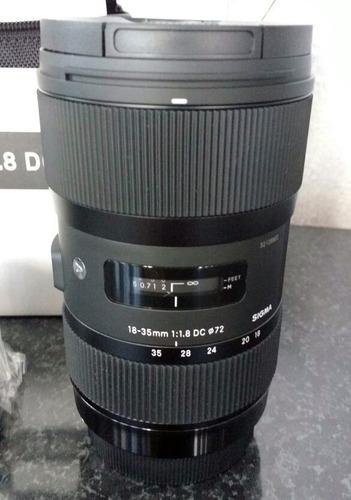 sigma lente 18-35mm f/1.8 dc hsm art p/canon