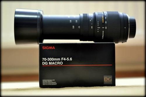 sigma lente 70-300mm f 4-5.6 dg macro para nikon