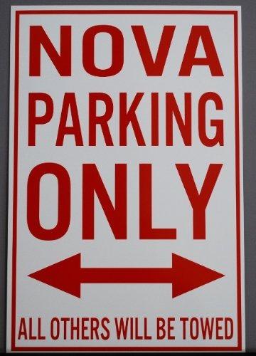 signos decorativos,metal muestra de calle nova parking s..