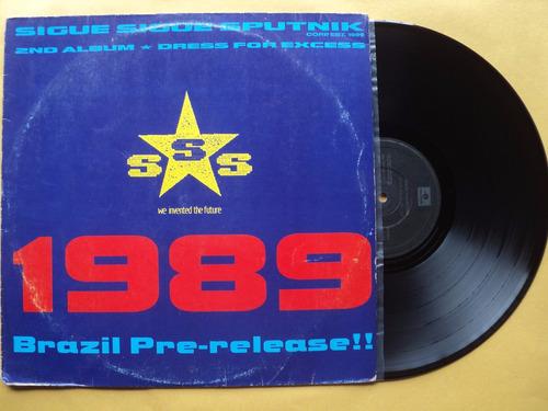 sigue sigue sputnik- lp dress for excess- 1988- original!