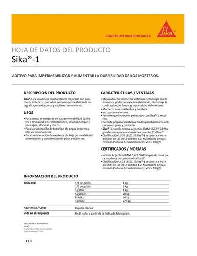 sika -1 por 4 kg sika 110201 antes 110001 ue x 6