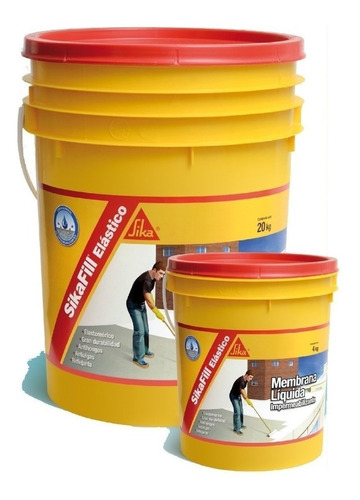 sikafill membrana 20 + 4 k colores + regalos + envio gratis!