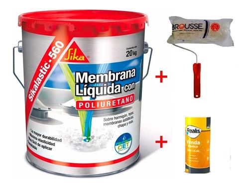 sikalastic 560 membrana rojo x 20kg. rodillo+venda universo