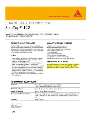 sikatop 122 calido x 27 kilos sika 120979