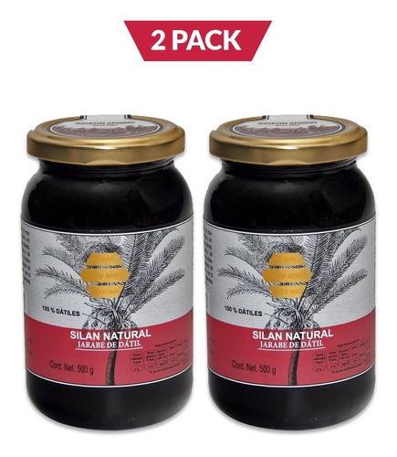 silan natural, jarabe de datil, 2 pack, 2 frascos de 500 gr
