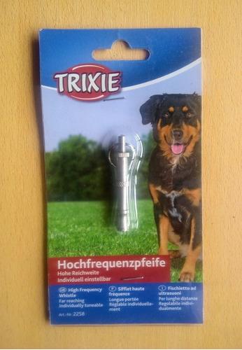 silbato de entrenamiento ultrasónico para perros trixie