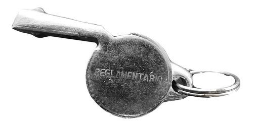 silbato metálico reglamentario plateado