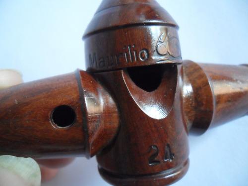silbato para caza  maurilio n°24  de madera echo a mano.////