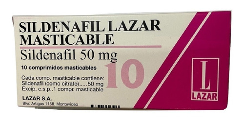 sildenafil masticable 50 mg x 10 comp.