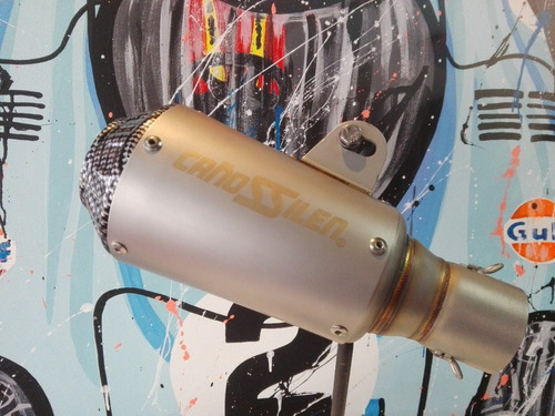 silenciador  de moto universal cañossilen cs11