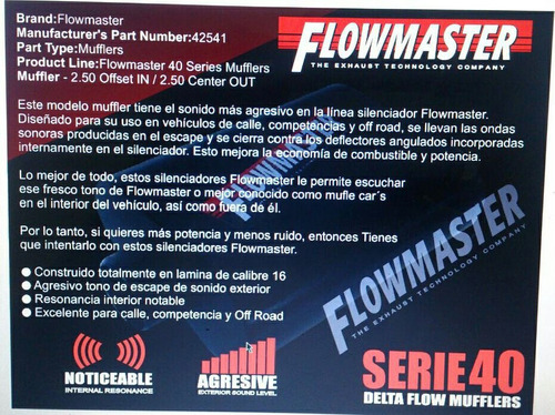 silenciador flowmaster resonador machito toyota 4.5 embrita