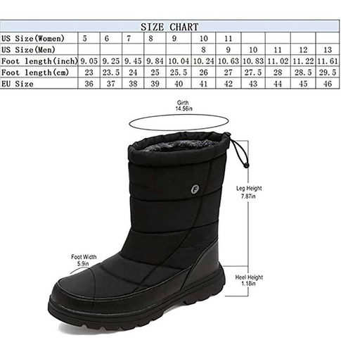 silentcare mens winter mid-calf snow boot fur warm wate