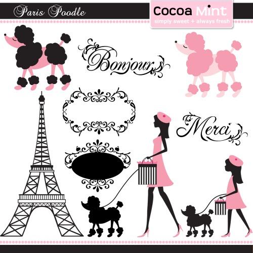 Silhouette Paris Poodle Torre Eifel Eiffel Moldes R 7 00 Em