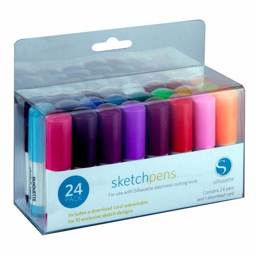 silhouette sketch pen colores kit 24