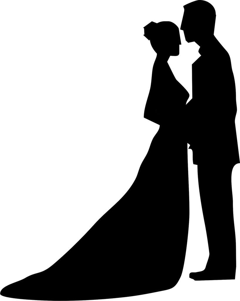 Silhuetas Noivos Para Topo De Bolos Casamentos R 40 00