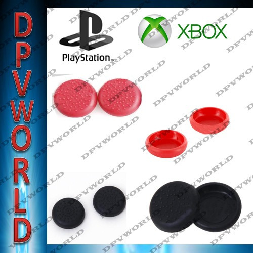 silicon analogos control ps4 ps3 xbox 360 one kit2/1 jostick