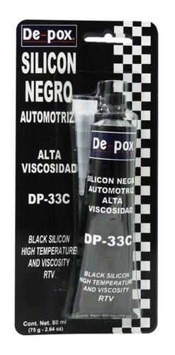 silicon de-pox dp33c 80 ml negro para auto alta viscosidad