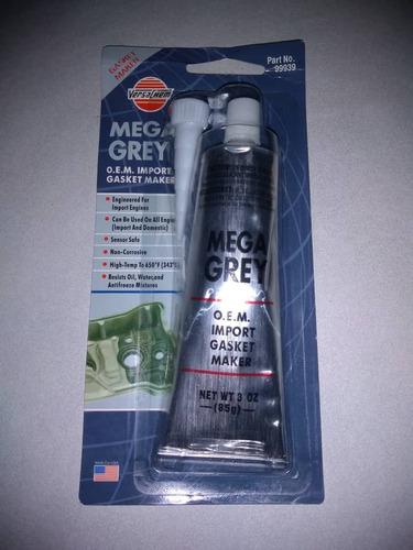 silicón mega grey gris alta temperatura
