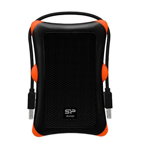 silicon power armor a30 hdd/ssd enclosure negro, naranja