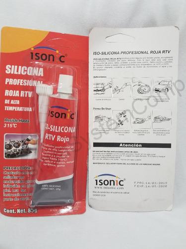 silicon rojo alta temperatura autos 85gr