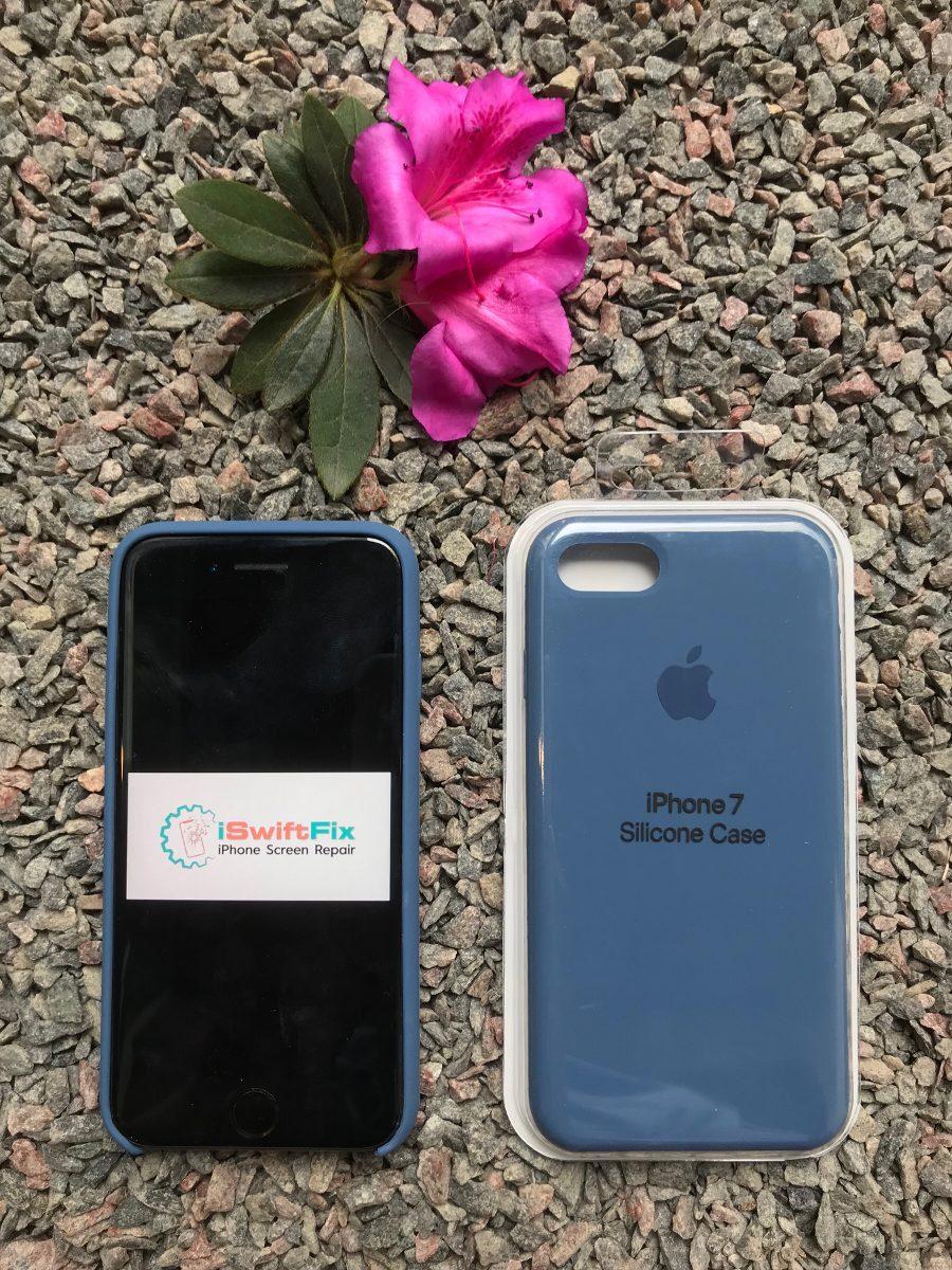 81281cb39e7 Silicona Case Original iPhone 7/8 Azul Oceano - S/ 59,00 en Mercado ...