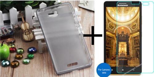silicona de protector lenovo s856 + vidrio protector s856
