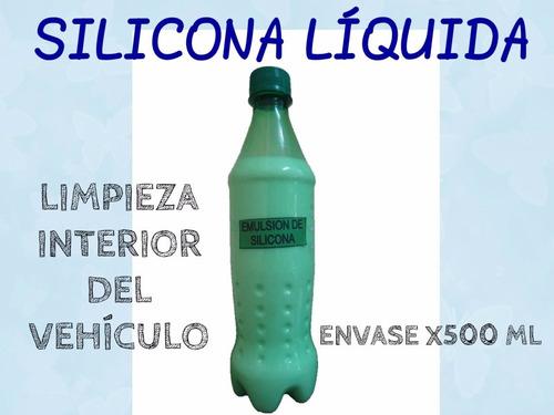 silicona liquida para interior de vehículos( pura de bidón )
