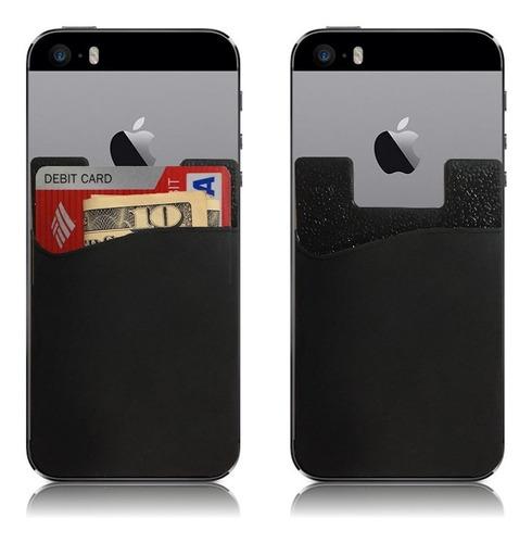 silicona porta tarjetas ci billetera monedero para celulares
