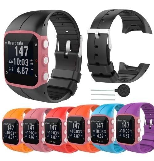 como serch seleccione para oficial otra oportunidad Silicona Pulsera Correa Reloj Banda Polar M400... (orange)