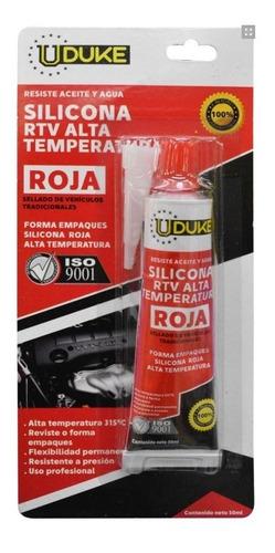 silicona roja 50ml rtv alta temperatura automotriz