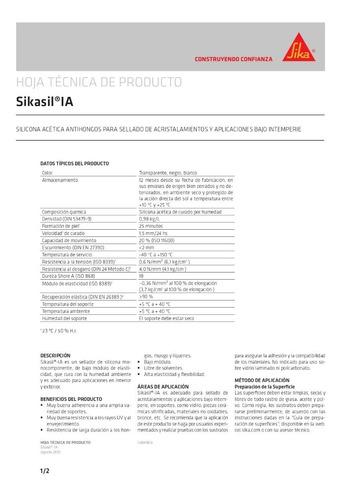 silicona sikasil ia transparente*300ml anti-hongos 271596-03