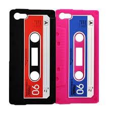 silicona tpu iphone 4 4s retro cassette varios colores