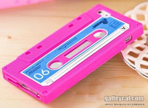 silicona tpu iphone 5 disenio retro casette varios colores