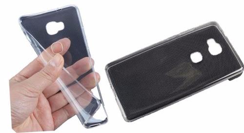 silicona ultra slim + vidrio templado huawei gr5 ds