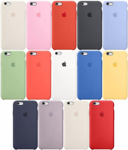 silicone case estuche iphone 6, 7, 7 plus x apple