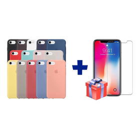 Silicone Case iPhone SE 2020 Protector  + Vidrio Templado