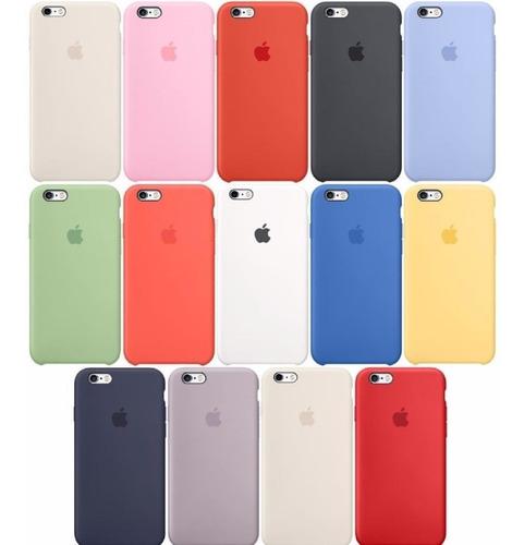 silicone case original iphone 6 7 8 x plus apple oferta ya