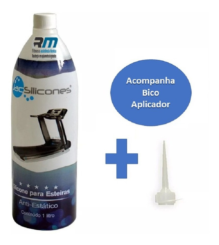 silicone lubrificante líquido 1l jac puro próprio p/ esteira